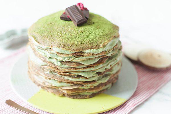 Vegan & Gluten-free Matcha Crepe Cake