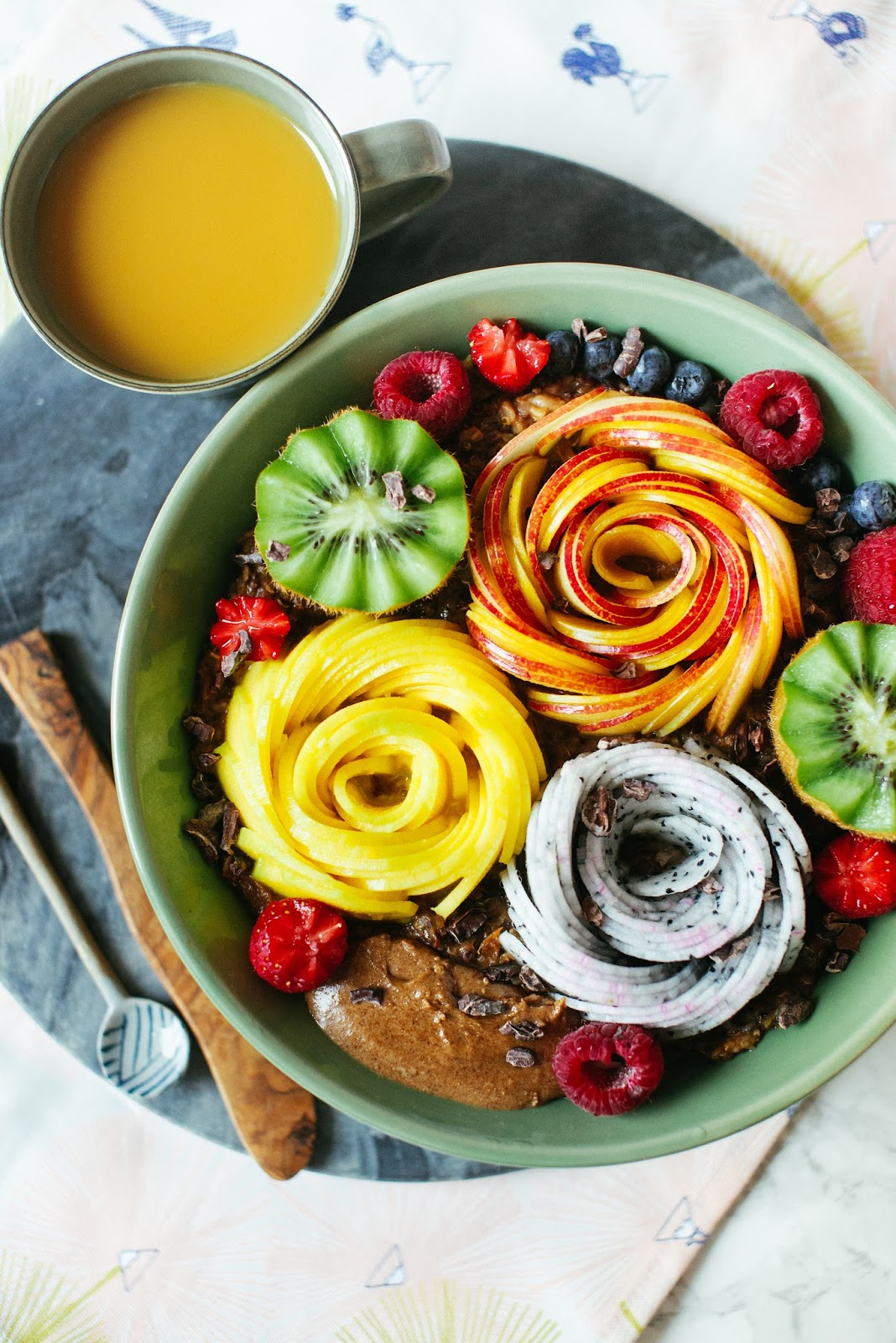 Black Rice Pudding with Fruits
