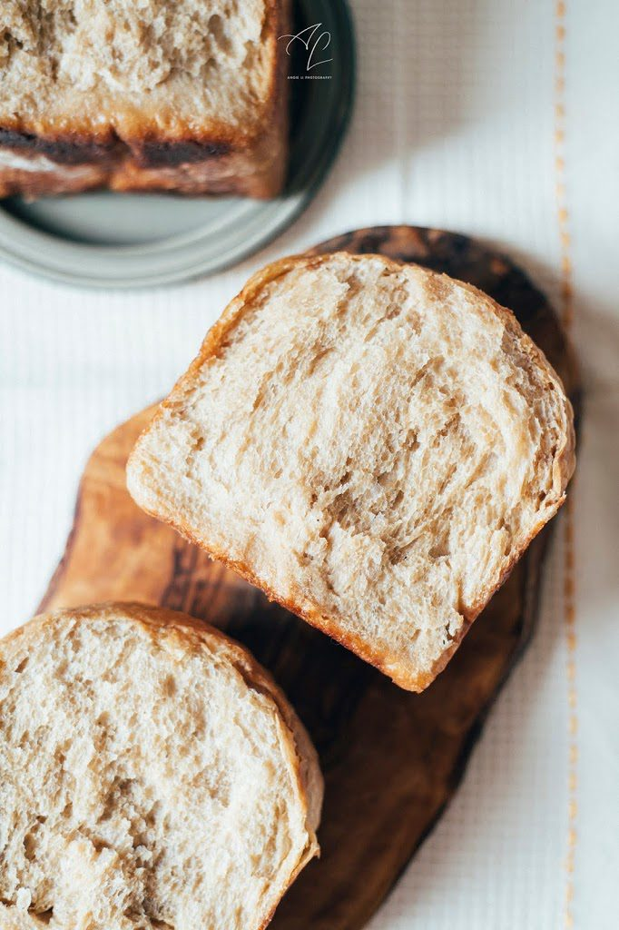 sourdough vegan milk bread