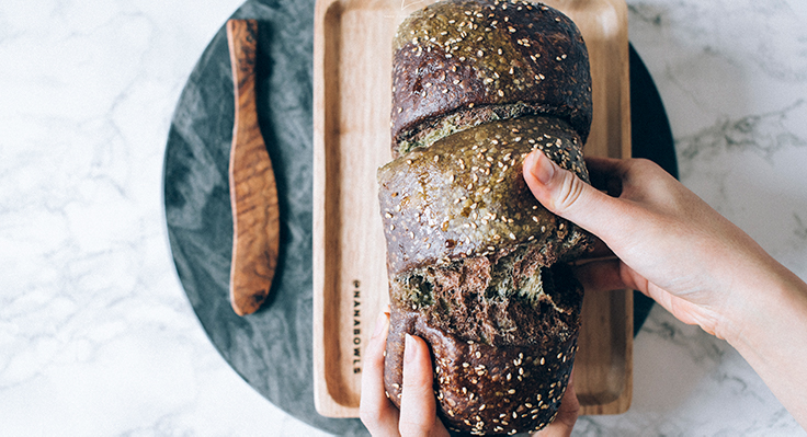 Sourdough Matcha & Chocolate Marble Bread