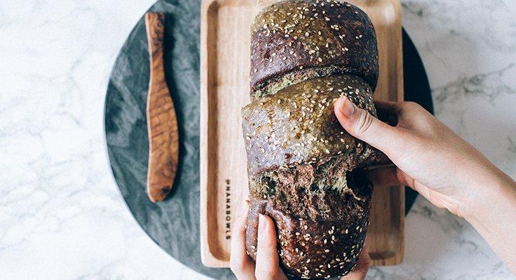 Sourdough Matcha & Chocolate Marble Bread