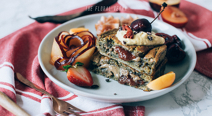 Nut Butter & Jam Stuffed French Toast (Vegan)