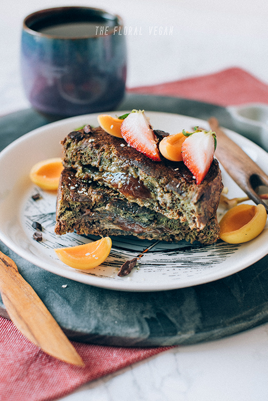 nut butter & jam stuffed french toast