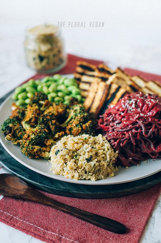 Nourish Bowl with Vegan Chickpea Salad