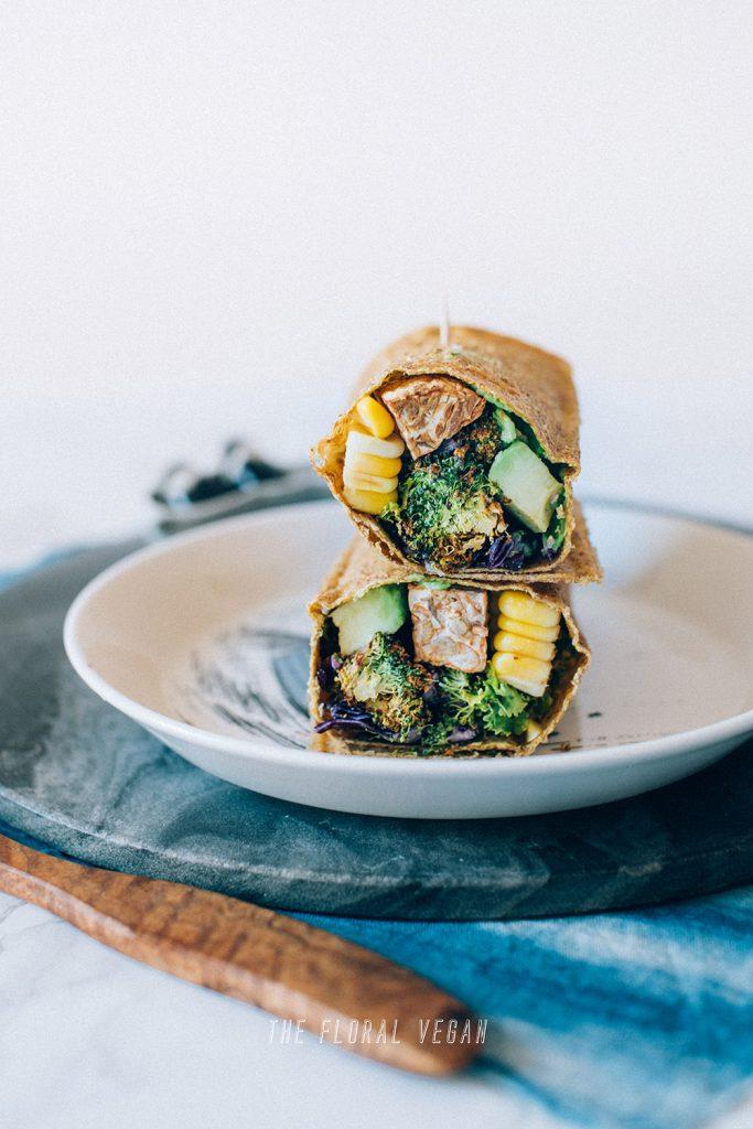 raw corn tortilla wrap