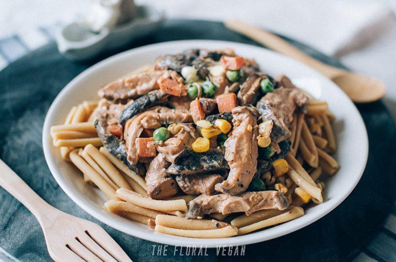 Mushroom Stroganoff (Vegan, Gluten-free)