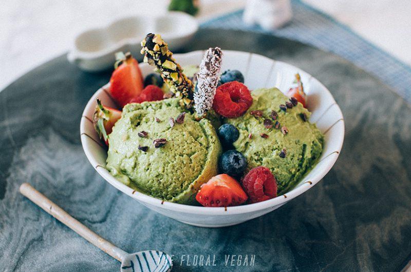 Matcha Pistachio Ice Cream (Vegan, Gluten-free, Keto)