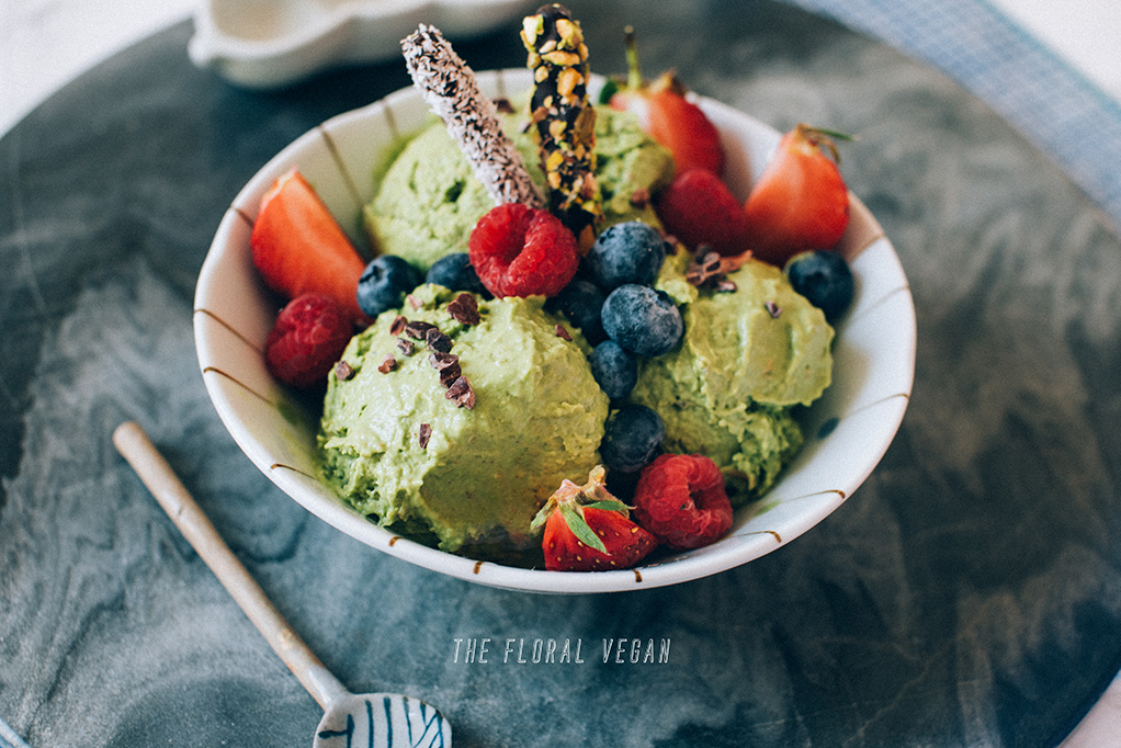 matcha pistachio ice cream