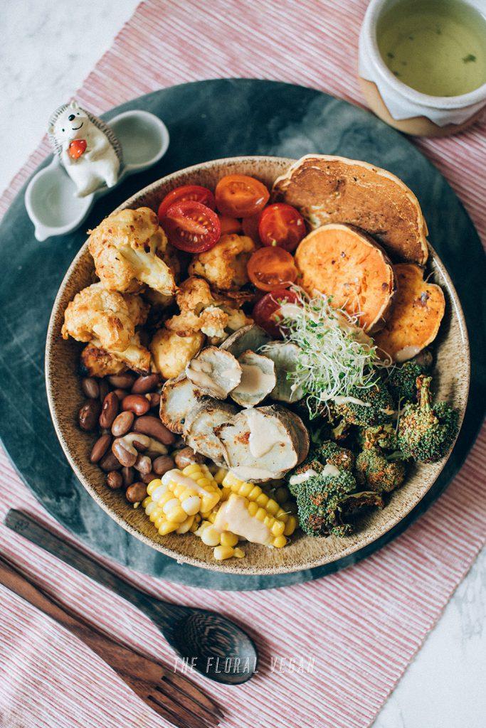 kung pao cauliflower in nourish bowl