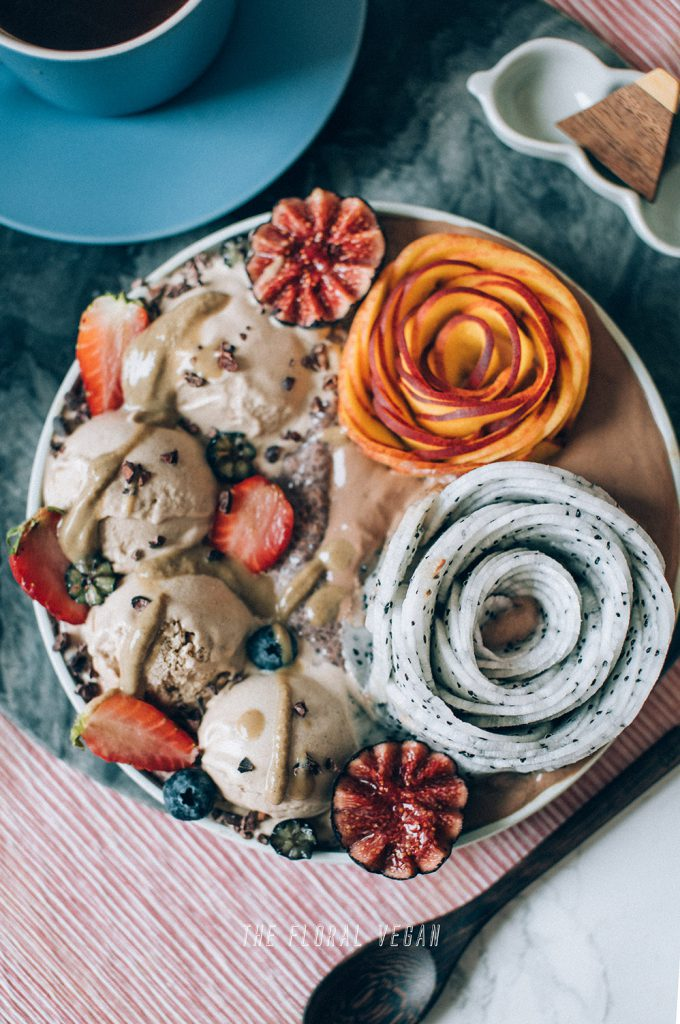 vegan vanilla maple gelato