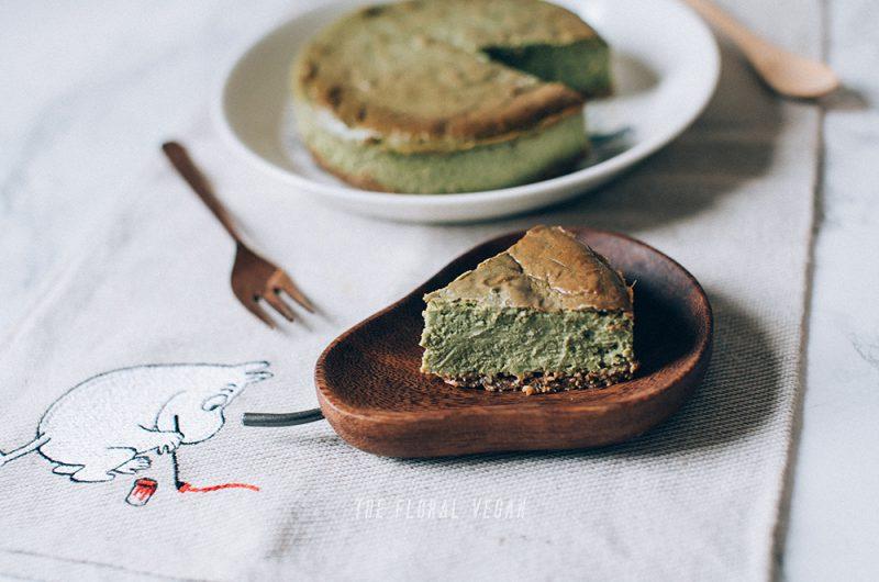 Vegan Matcha Cheesecake (Gluten-free)
