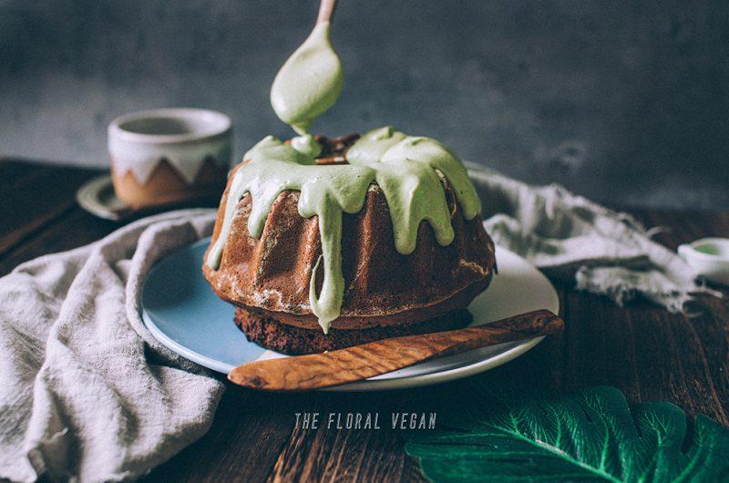 Vegan Marble Matcha Bundt Cake (Gluten-free)