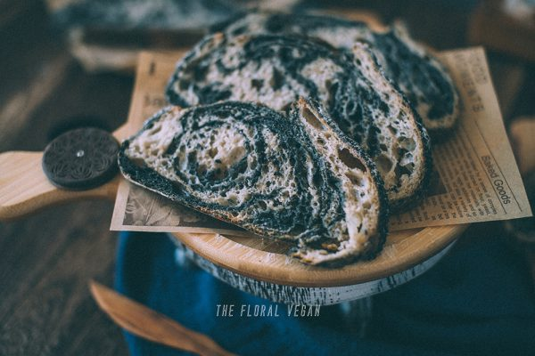 black sesame sourdough