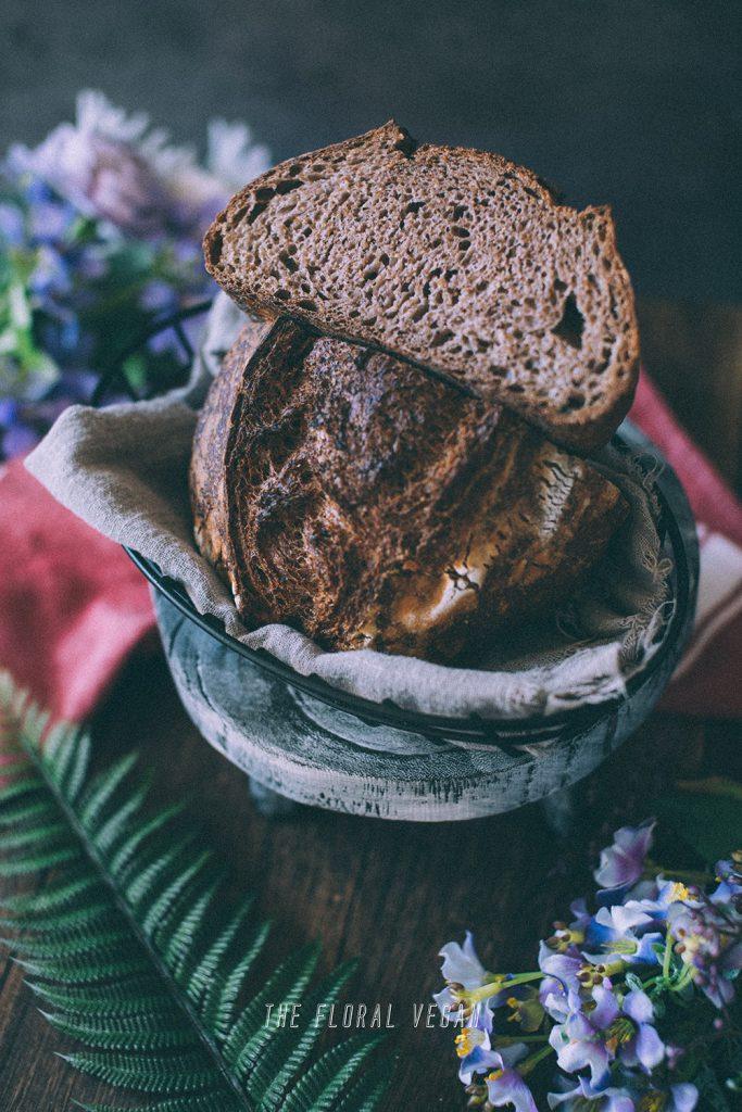 100% whole grain sourdough crumb