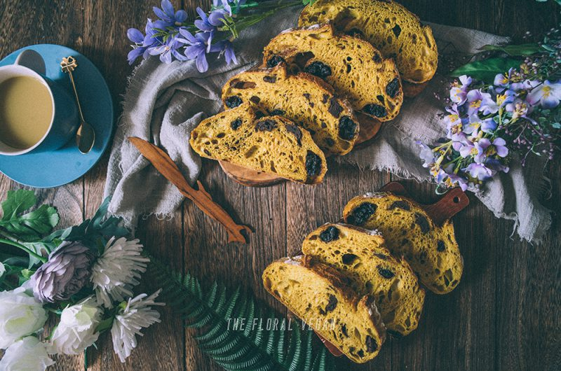 Cinnamon Turmeric Sourdough with Chocolate & Dried Cherries