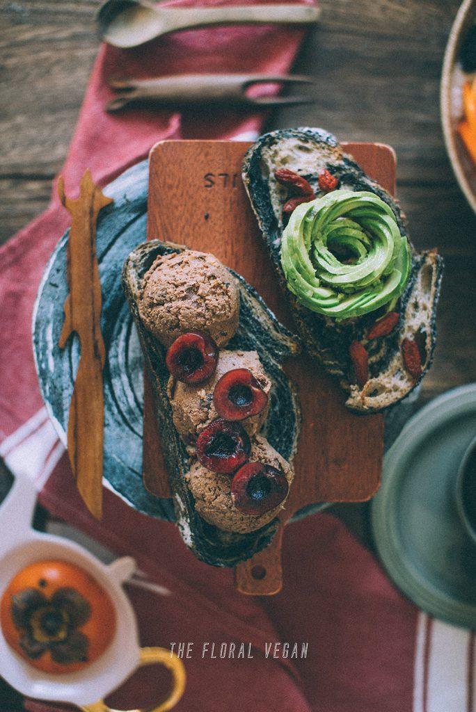 cookie dough on sourdough bread