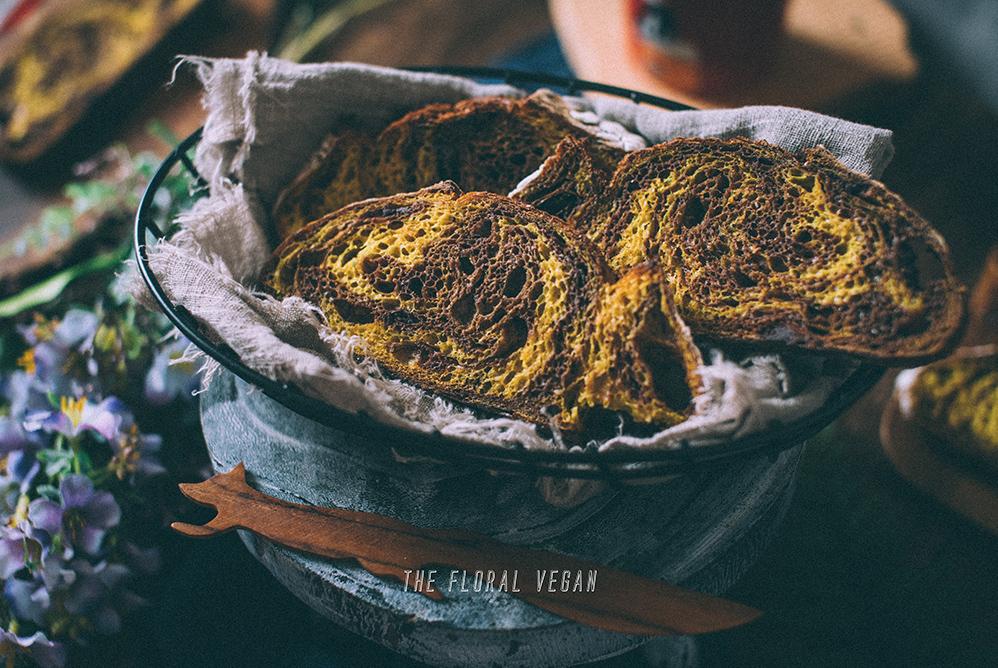 orange chocolate sourdough crumb shot