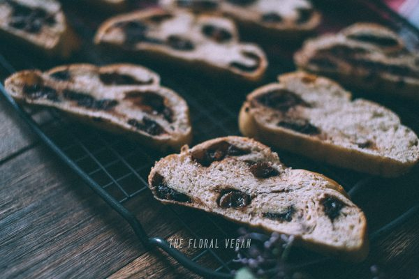 Chocolate cinnamon roll challah crumb