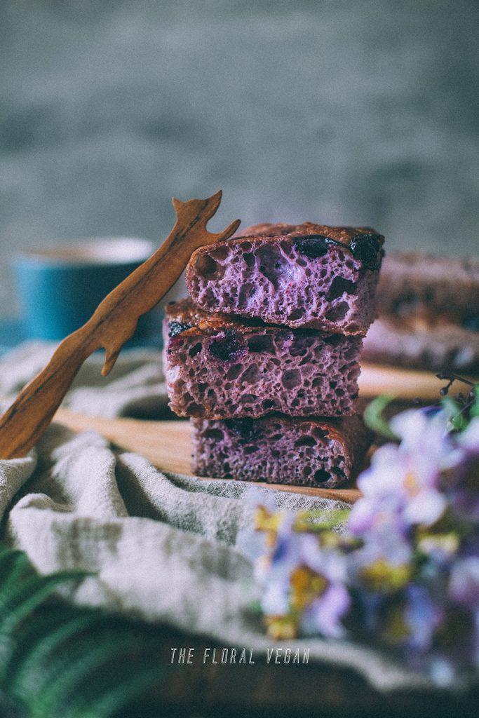 blueberry focaccia slices