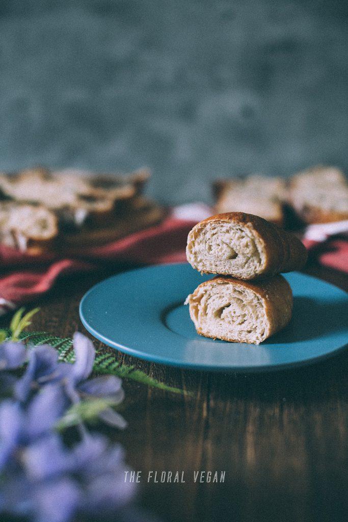 japanese butter rolls cross sections