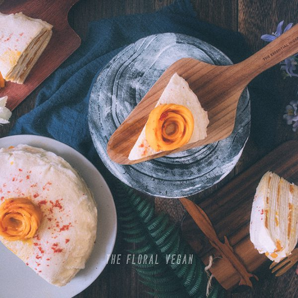 Mango Crepe Cake (Vegan)