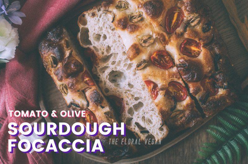Tomato & Olive Sourdough Focaccia